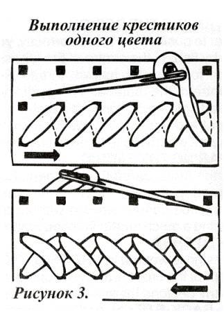 одноцветные схемы крестиком